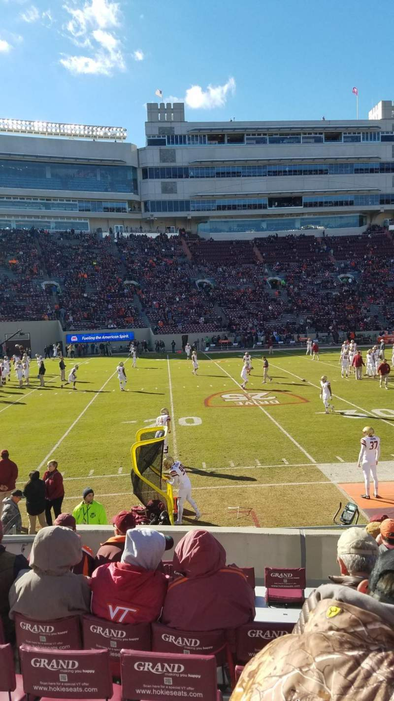 Seating view for Lane Stadium Section 15 Row N Seat 10