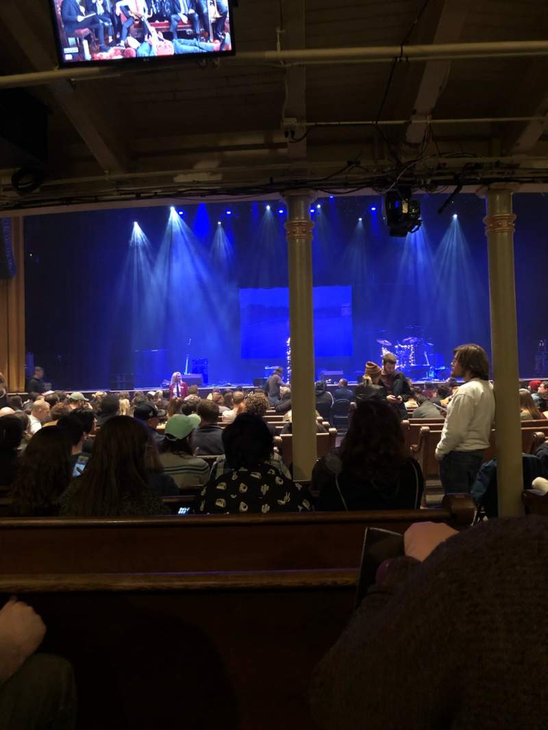 Seating view for Ryman Auditorium Section MF-5 Row R Seat 2