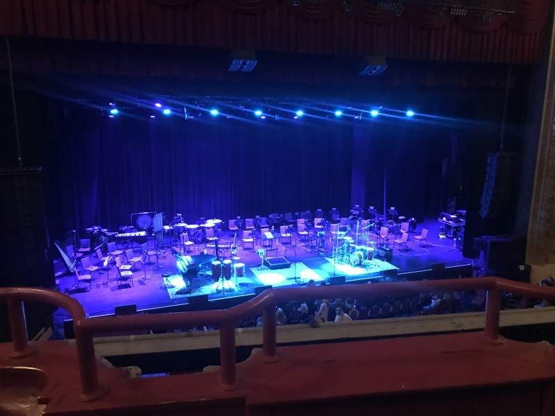 Seating view for Chicago Theatre Section LOGE3L Row BB Seat 315