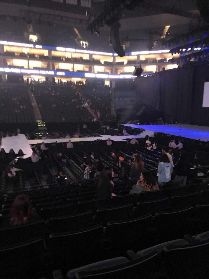 Seating view for Golden 1 Center Section 107 Row D