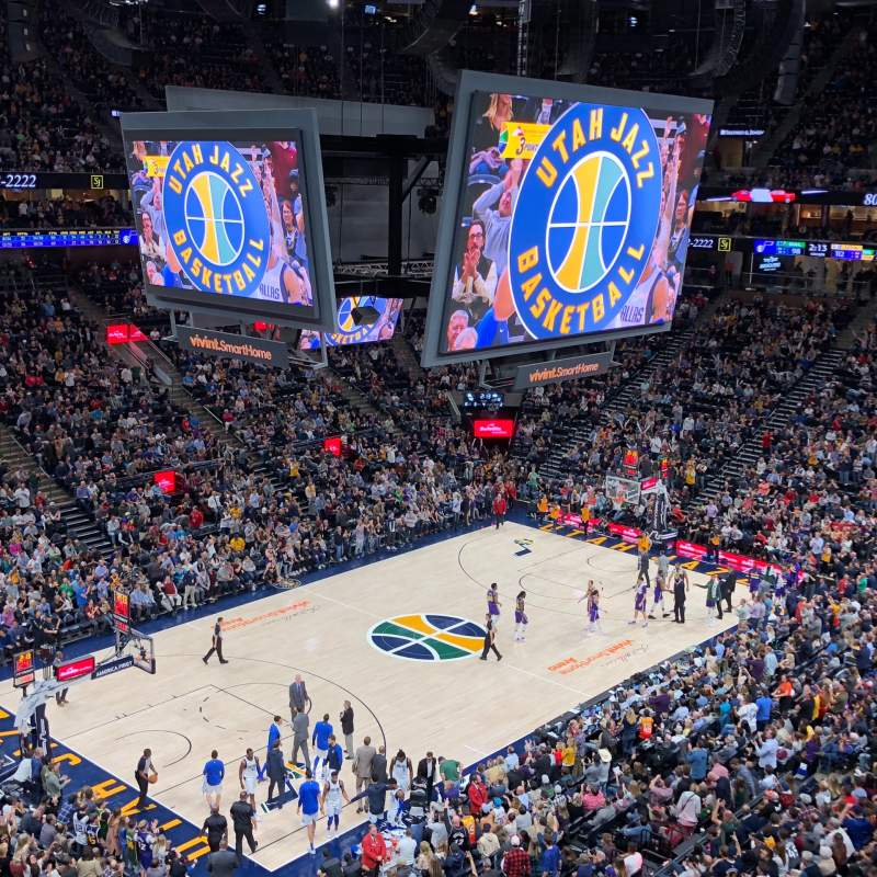 Portland Trail Blazers Arena >> Photos of the Utah Jazz at Vivint Smart Home Arena