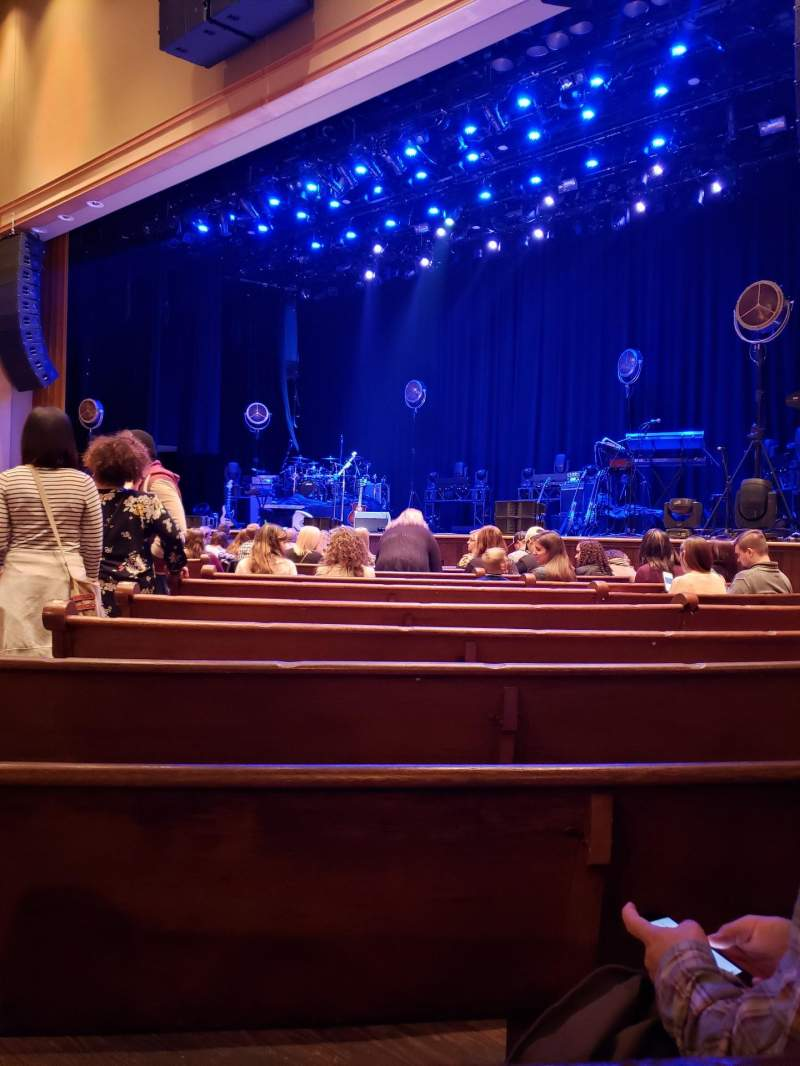 Seating view for Ryman Auditorium Section 2 Row N Seat 6
