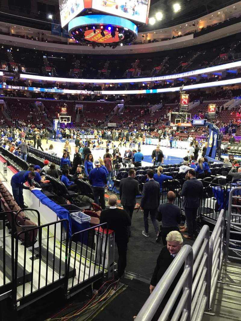 Seating view for Wells Fargo Center Section 116 Row 5 Seat 9