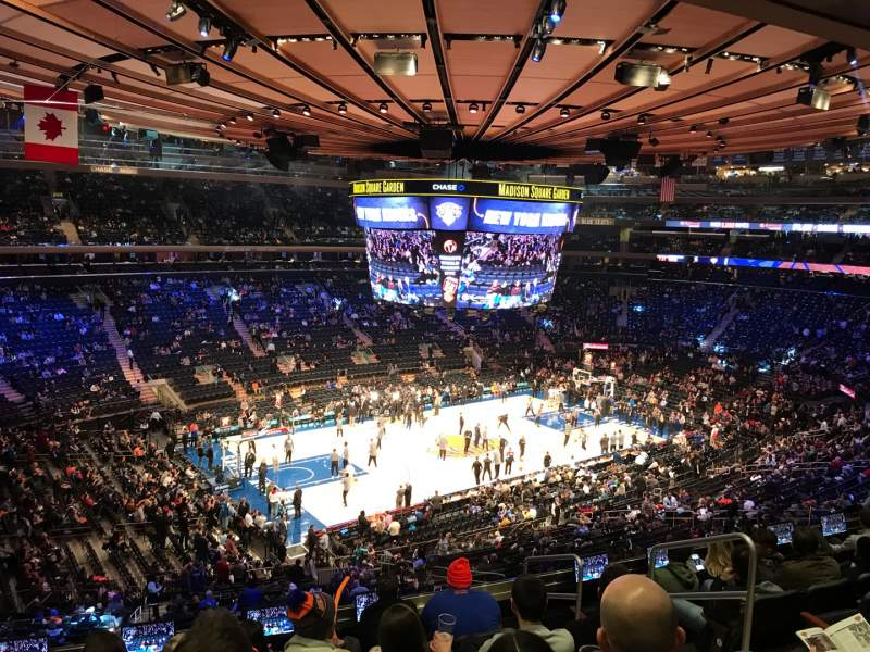 Seating view for Madison Square Garden Section 208 Row 8 Seat 16