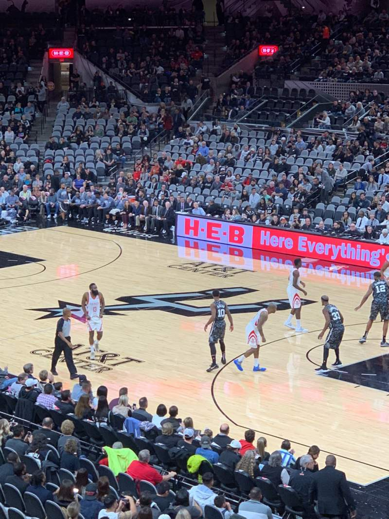 Seating view for AT&T Center Section 118DA Row 26 Seat 6