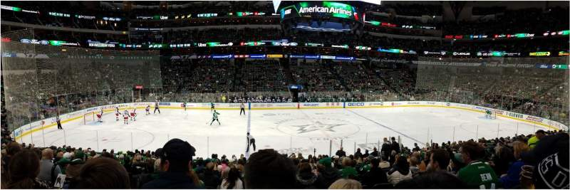 Seating view for AMERICAN AIRLINES CENTER Section 107 Row U Seat 14