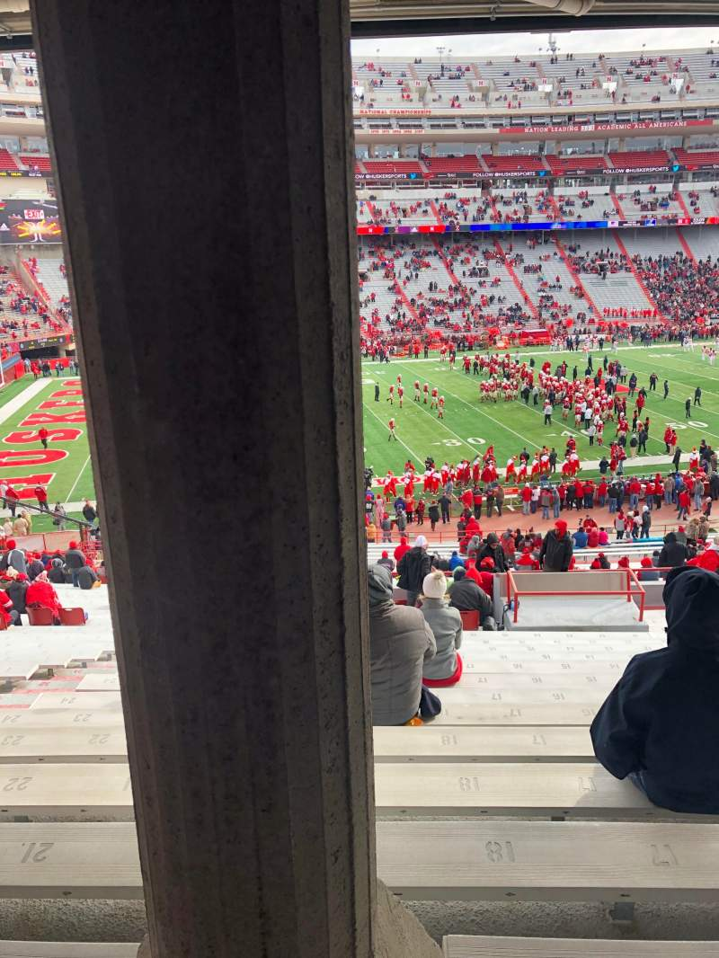 Seating view for Memorial Stadium (Lincoln) Section 29 Row 41 Seat 19