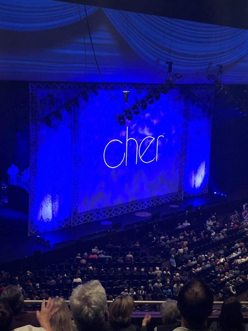 Seating view for Park Theater at Park MGM Section 406 Row F Seat 7