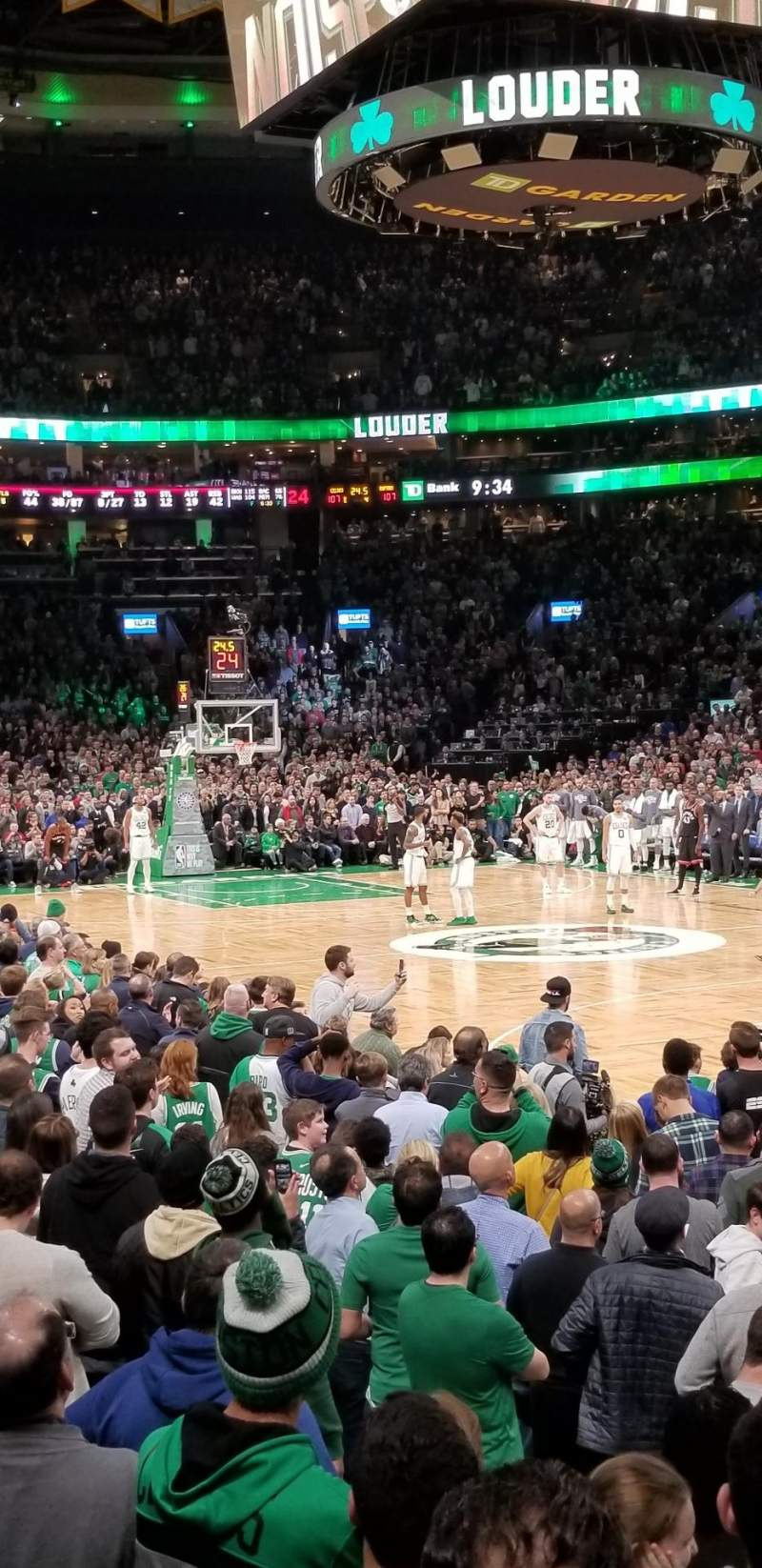 Seating view for TD Garden Section Loge 9 Row 7 Seat 6