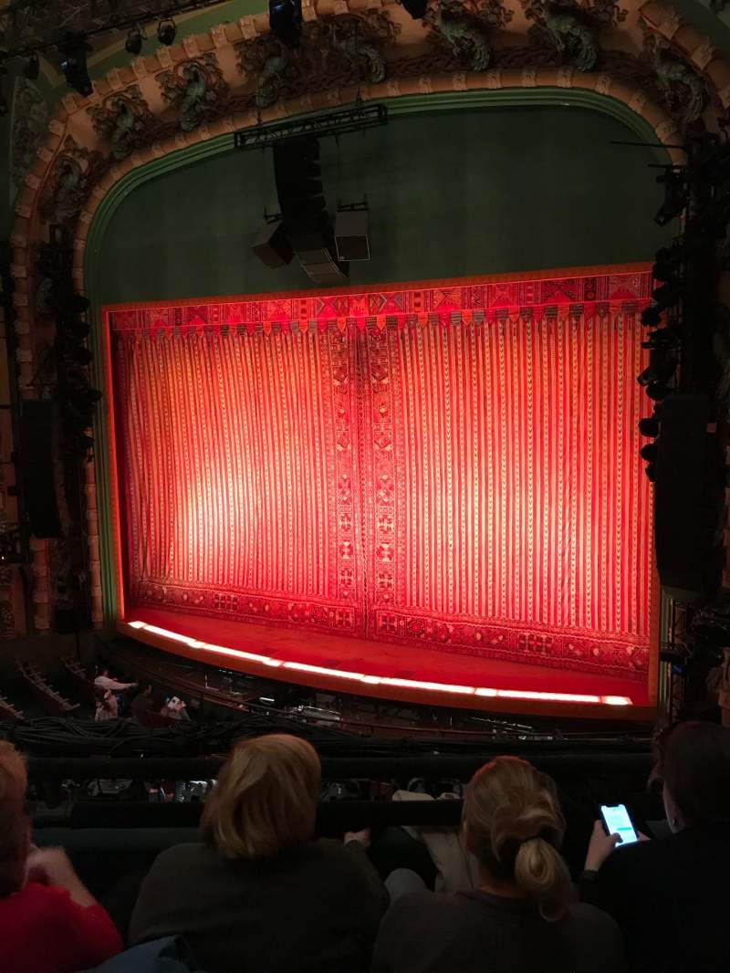 Seating view for New Amsterdam Theatre Section Mezzanine R Row CC Seat 12