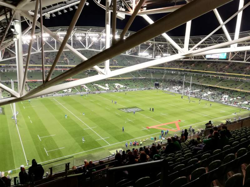 Seating view for Aviva Stadium Section 529 Row R Seat 15