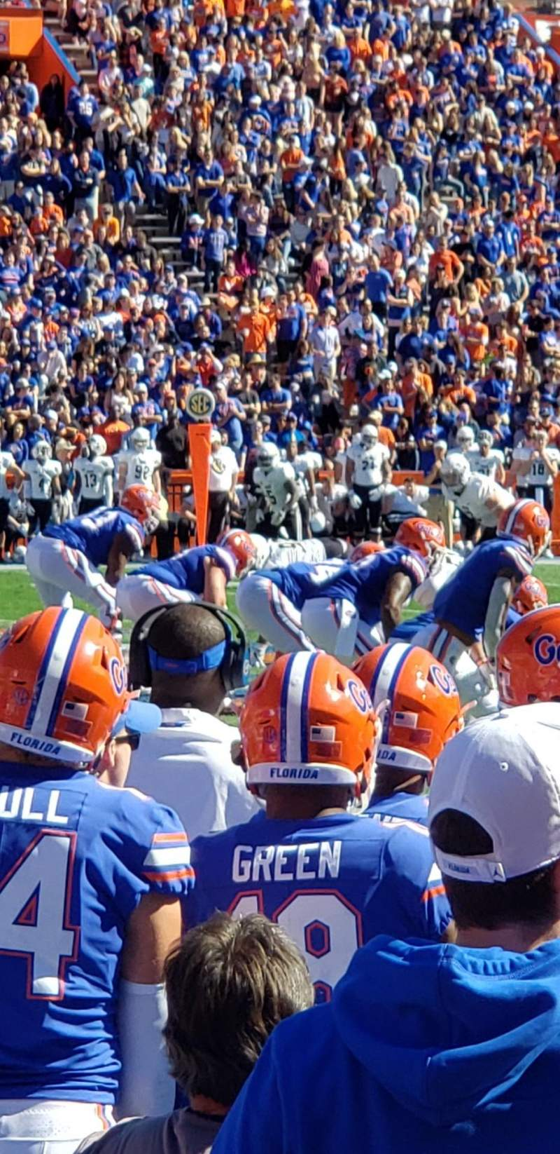 Seating view for Ben Hill Griffin Stadium Section 10 Row 3 Seat 15