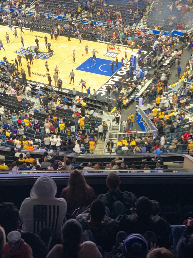 Seating view for Amway Center Section 206 Row 6 Seat 3