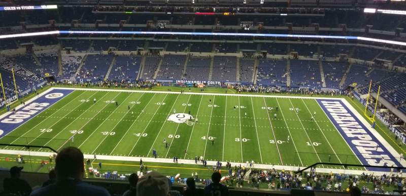 Seating view for Lucas Oil Stadium Section 639 Row 9 Seat 10