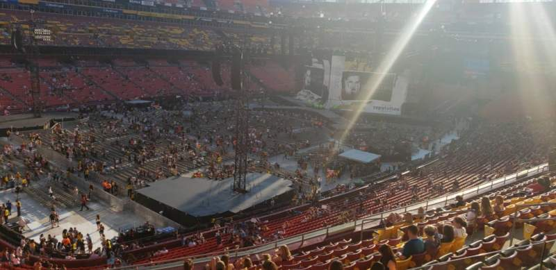 Seating view for FedEx Field Section 327 Row M Seat 18