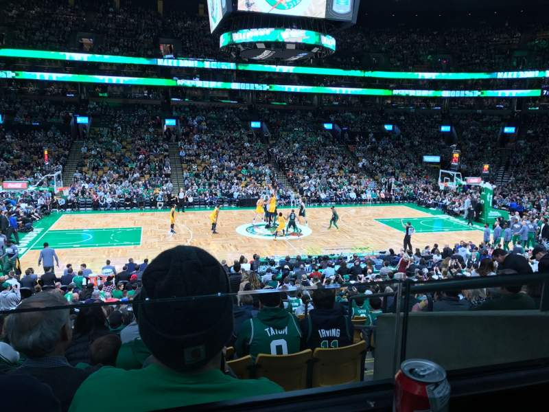 Seating view for TD Garden Section Club 113 Row A Seat 1