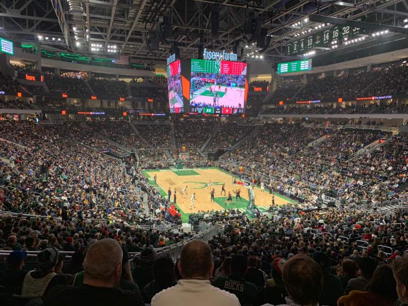 Seating view for Fiserv Forum Section 113 Row 31 Seat 19