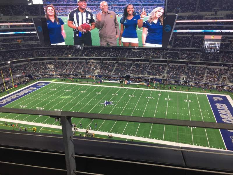 Seating view for AT&T Stadium Section 410 Row 1 Seat 9