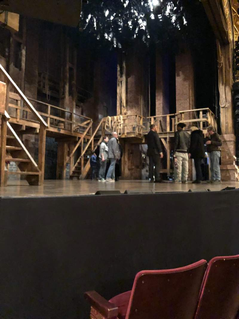 Seating view for Richard Rodgers Theatre Section Orchestra L Row B Seat 15