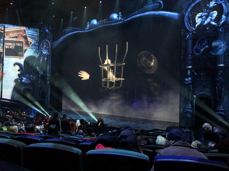 Seating view for Michael Jackson One Theatre Section 103 Row P Seat 9