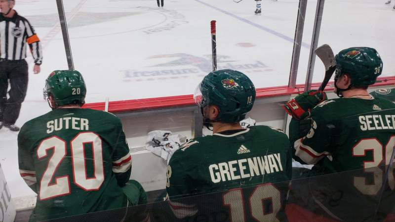 Seating view for Xcel Energy Center Section 103 Row 3 Seat 17