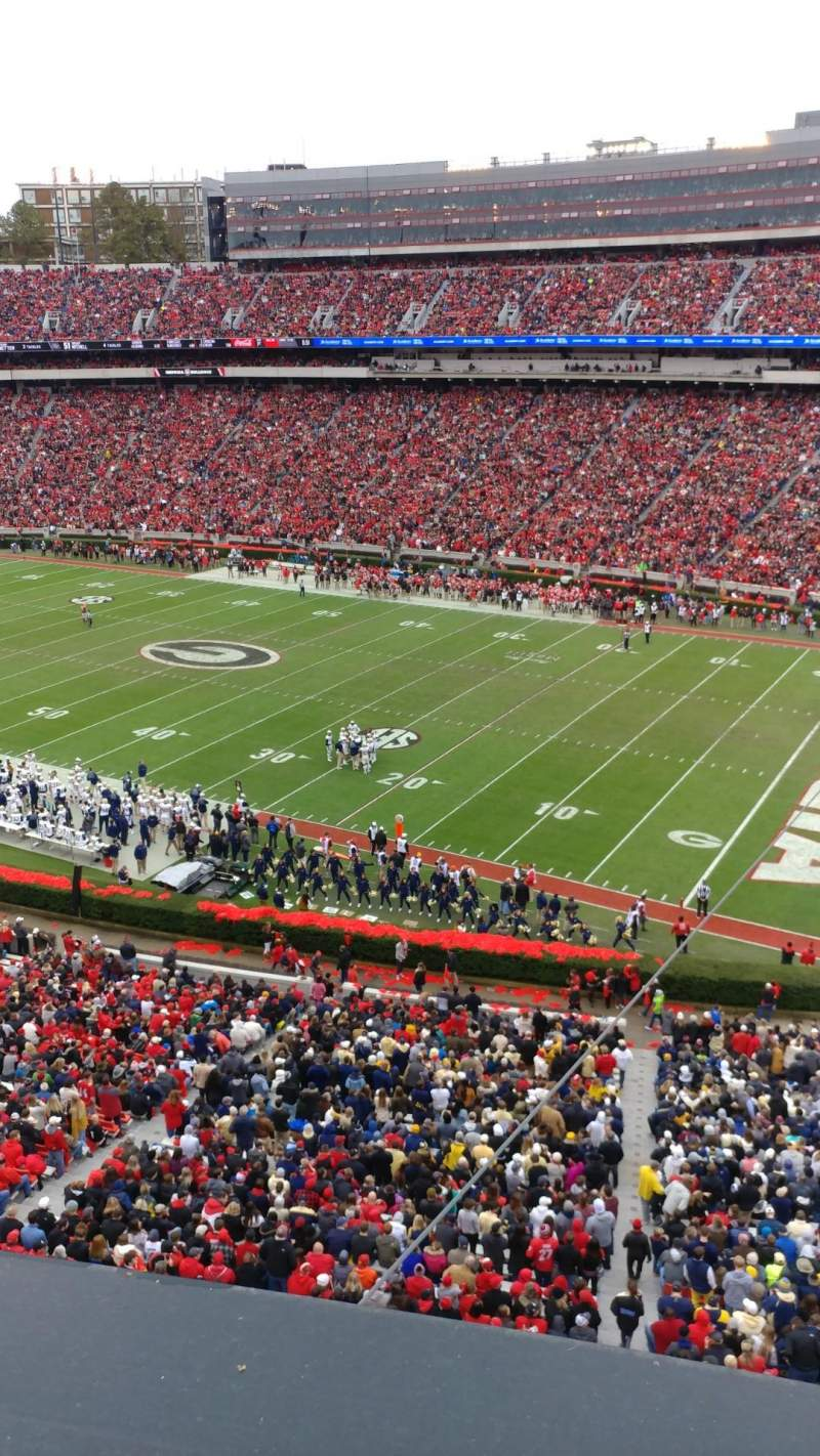 Seating view for Sanford Stadium  Section 302 Row 1 Seat 30
