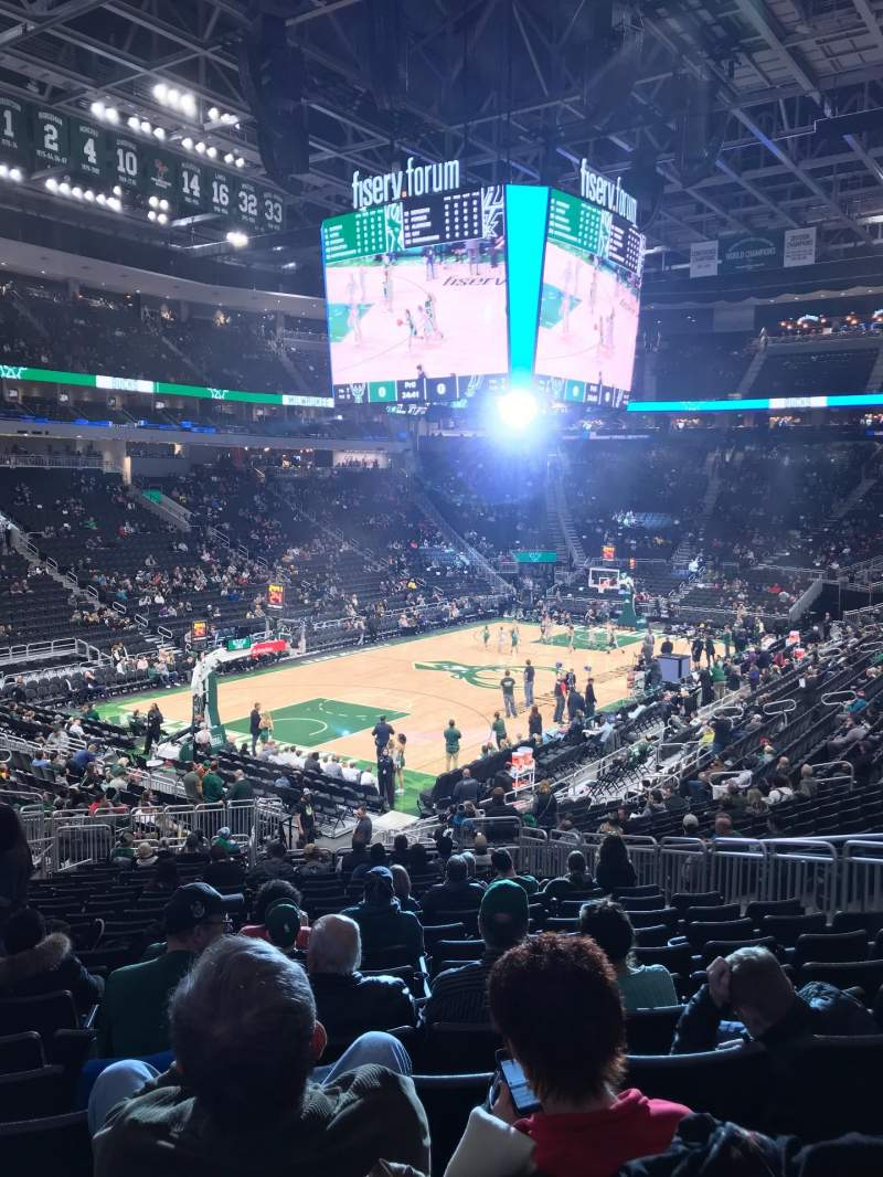 Seating view for Fiserv Forum Section 120 Row 24 Seat 11