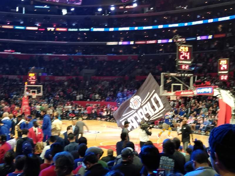 Seating view for Staples Center Section 117 Row 4 Seat 4 and 5