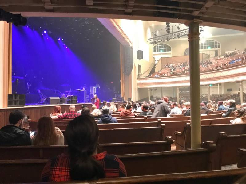 Seating view for Ryman Auditorium Section MF-8 Row Q Seat 4