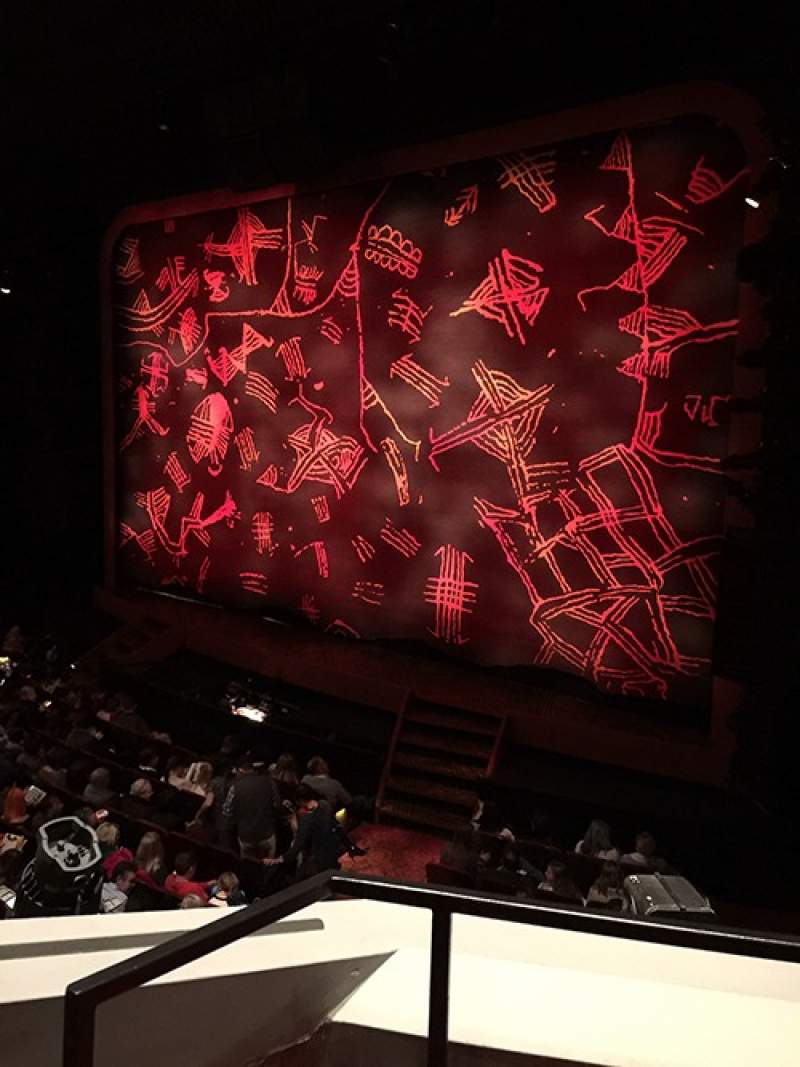 Seating view for Minskoff Theatre Section Mezzanine Row AA Seat 6