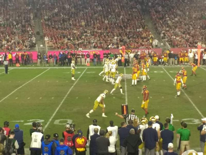 Seating view for Los Angeles Memorial Coliseum Section 108A Row 20 Seat 8