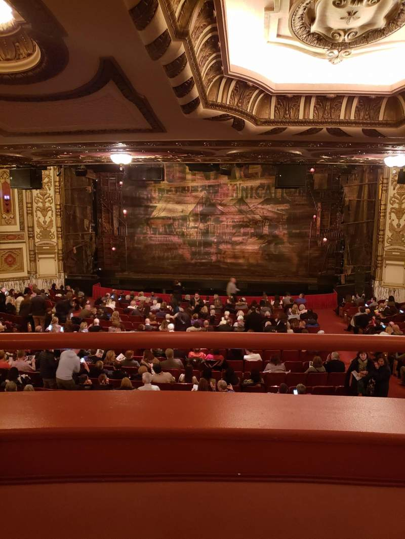 Seating view for Cadillac Palace Theater Section Dress Circle C Row A Seat 221