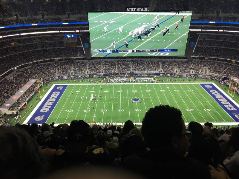 Seating view for AT&T Stadium Section 443 Row 29 Seat 20
