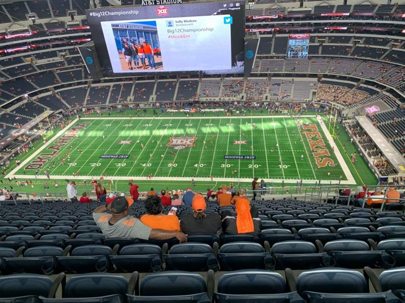Seating view for AT&T Stadium Section 411 Row 28 Seat 8