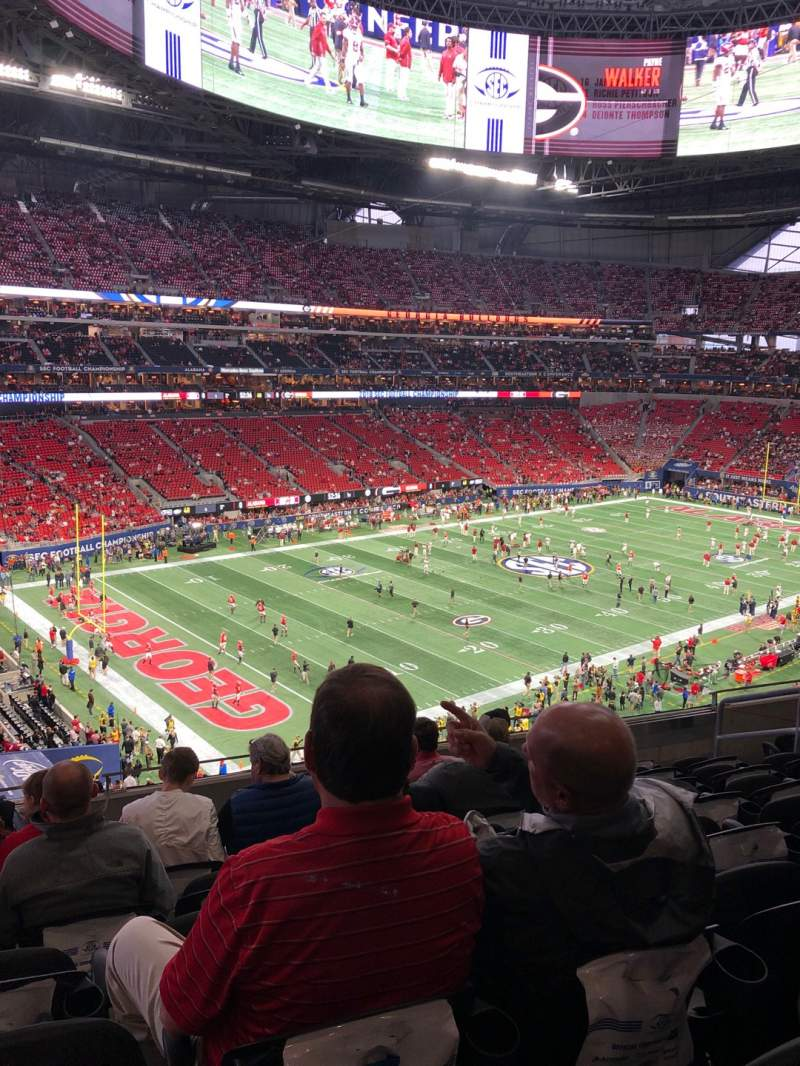 Seating view for Mercedes-Benz Stadium Section 244 Row 8 Seat 9
