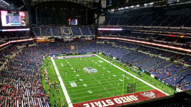 Seating view for Lucas Oil Stadium Section 629 Row 6 Seat 18