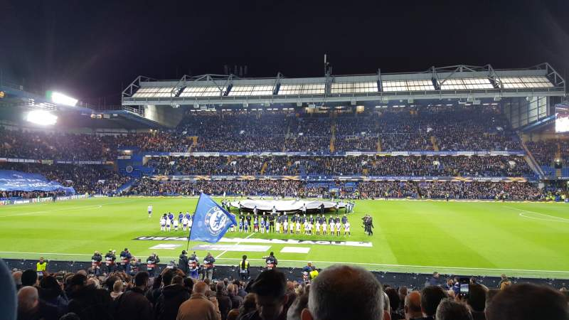 Seating view for Stamford Bridge Section West Stand Lower Row 25 Seat 89