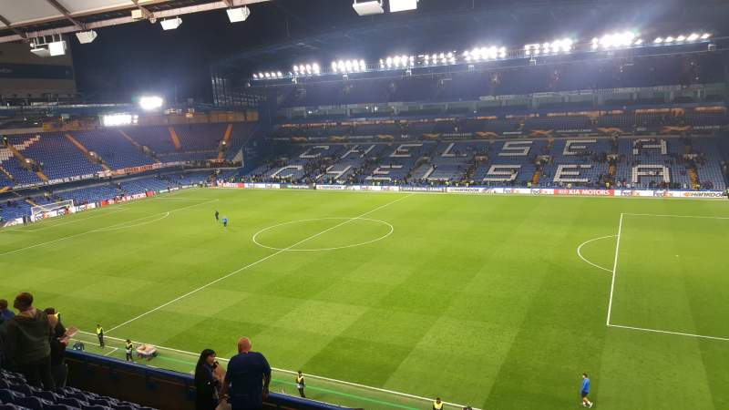 Seating view for Stamford Bridge Section East Stand Upper Row 9 Seat 16