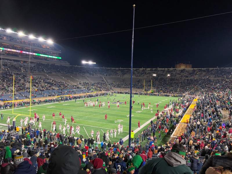 Seating view for Notre Dame Stadium Section 16 Row 45 Seat 28-29