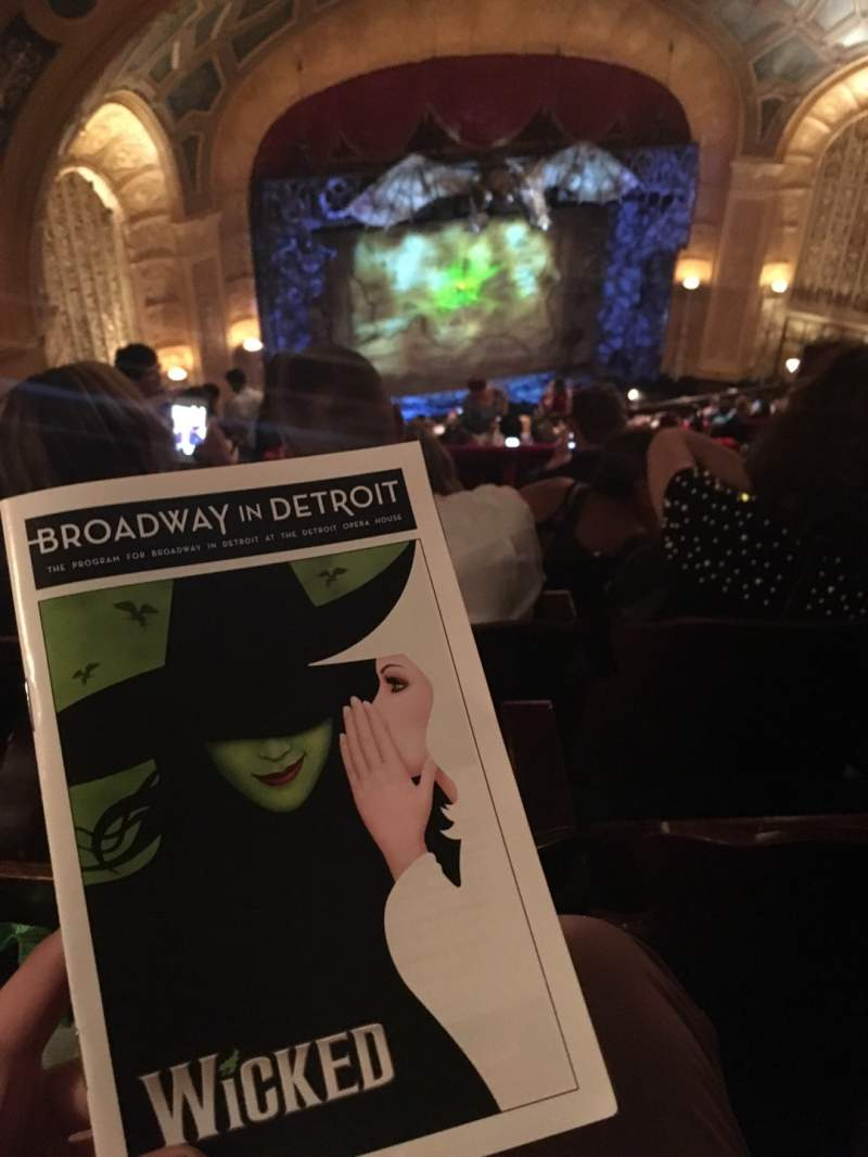 Seating view for Detroit Opera House Section Balcony 5 Row P Seat 7