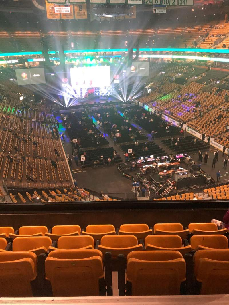 Seating view for TD Garden Section Bal 310 Row 5 Seat 7