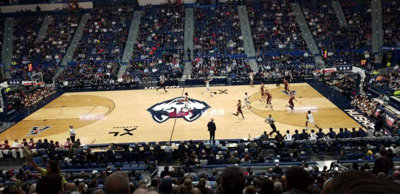 Seating view for XL Center Section 114