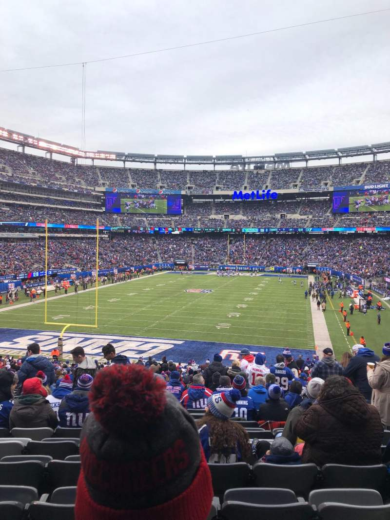 Seating view for MetLife Stadium Section 124 Row 38 Seat 3,4