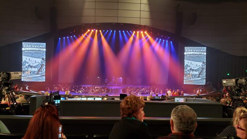 Seating view for Zappos Theater Section 205 Row D Seat 7