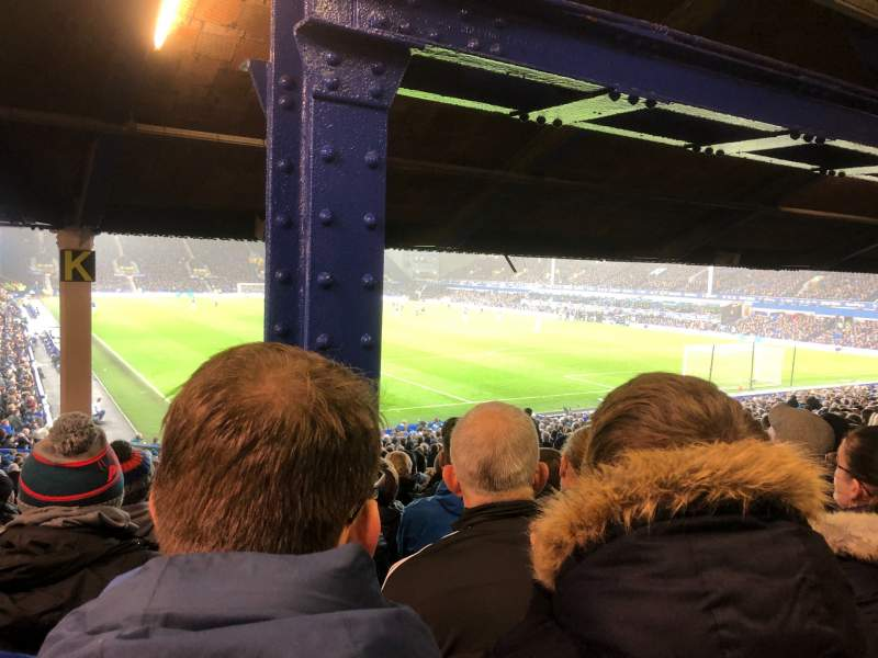 Seating view for Goodison Park Section Gwladys Street Lower 7 Row OO Seat 186