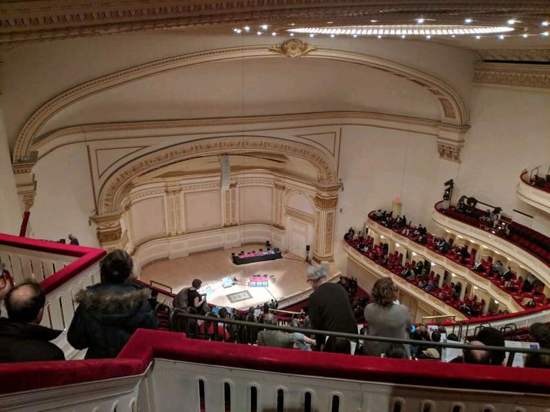 Seating view for Carnegie Hall Section Balcony Row N Seat 47