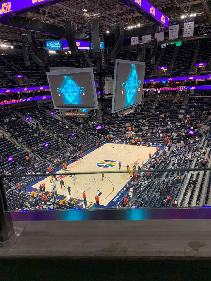 Seating view for Vivint Smart Home Arena Section 119 Row 1 Seat 5