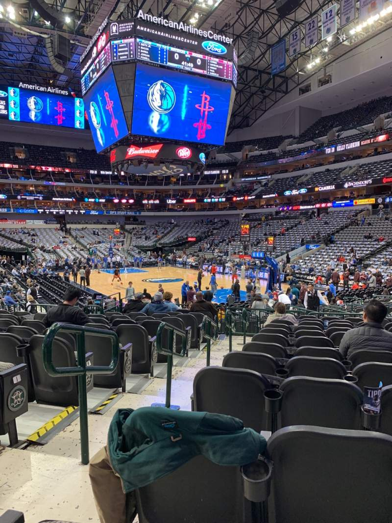 Seating view for American Airlines Center Section 102 Row M Seat 13