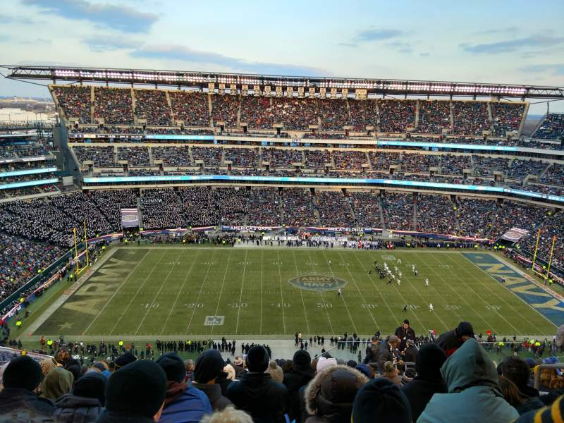 Seating view for Lincoln Financial Field Section 244 Row 21 Seat 6