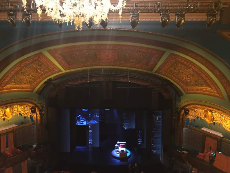 Seating view for Curran Theater Section Balcony Row E Seat 110